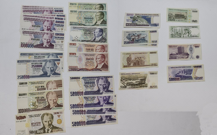World Banknotes Quantity of Turkish banknotes comp