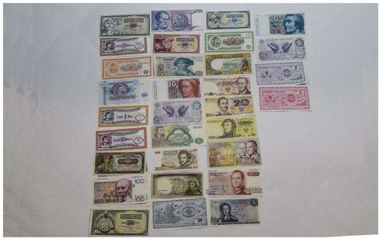 World Banknotes, Mixed Collection Of Banknotes (40
