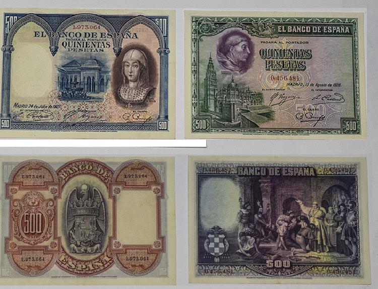 El banco De Espana 500 Quinientas Pesetas Bank Not