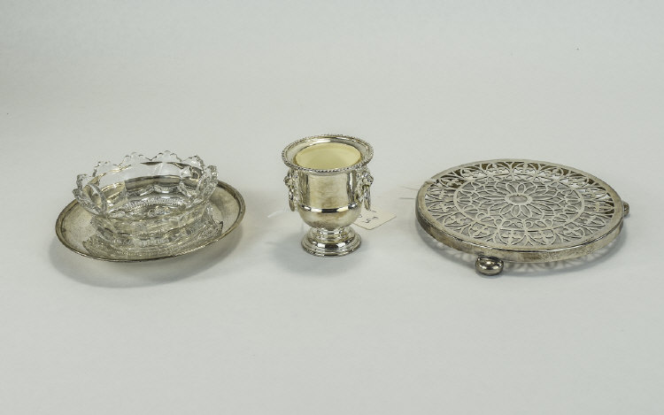 A Small Collection of Antique Silver Plated Items