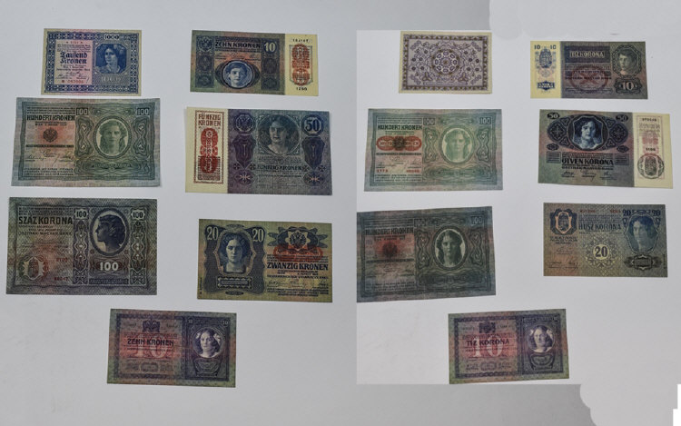 Austro / Hungarian Bank Notes In High Grade Condit
