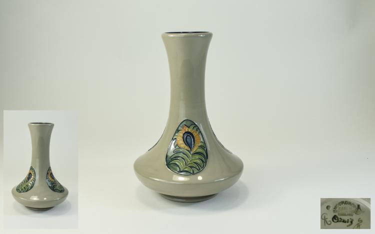 Moorcroft Modern Lustre ' Peacock Feathers ' Vase.