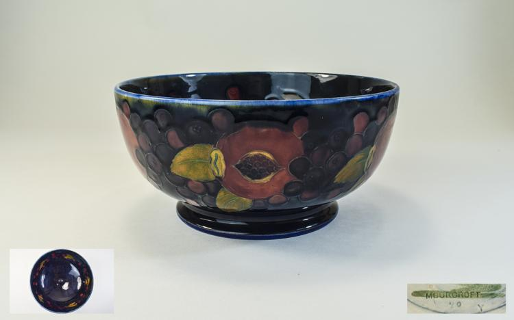 William Moorcroft Signed and Early Footed Bowl ' P