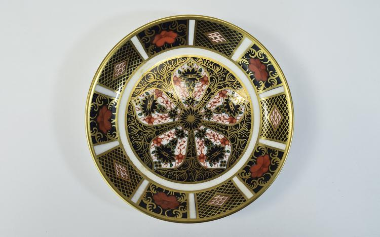 Royal Crown Derby Old Imari Pin Dish, Date 1971. P