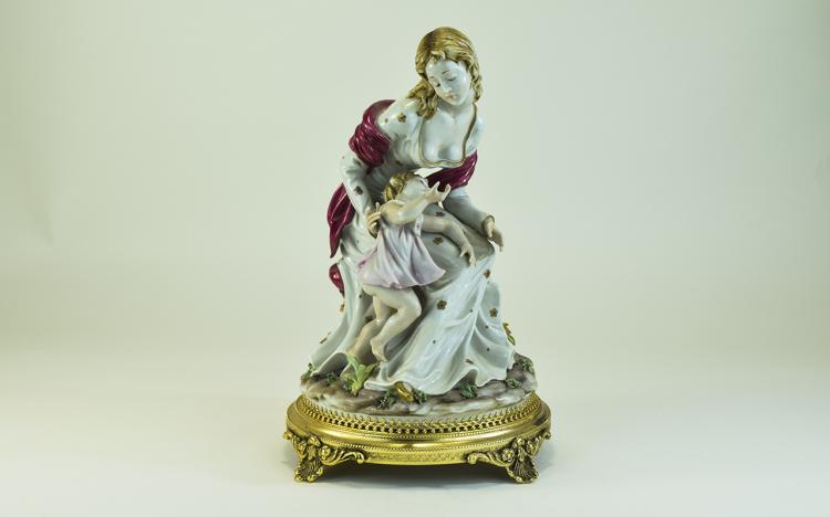 Capodimonte Very Fine - Hand Painted Porcelain Sig