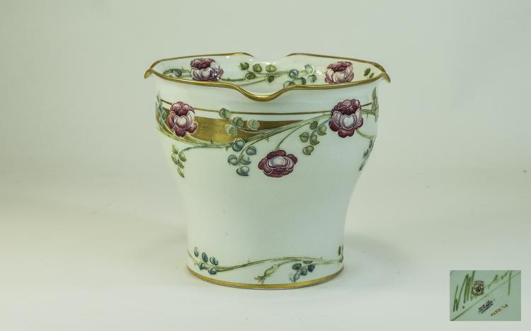 Moorcroft Macintyre Small Jardiniere, floral bands