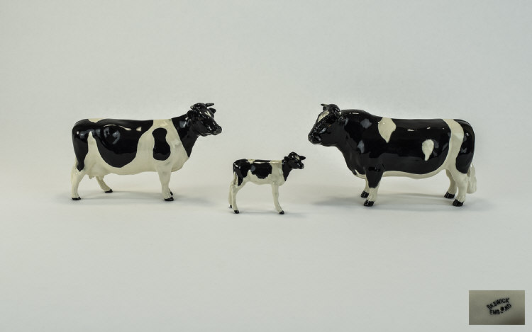 Beswick Farm Animals Family of Three 1/ Hereford B