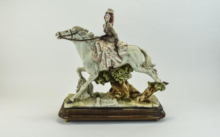 Capodimonte Large and Impressive Signed Figure of