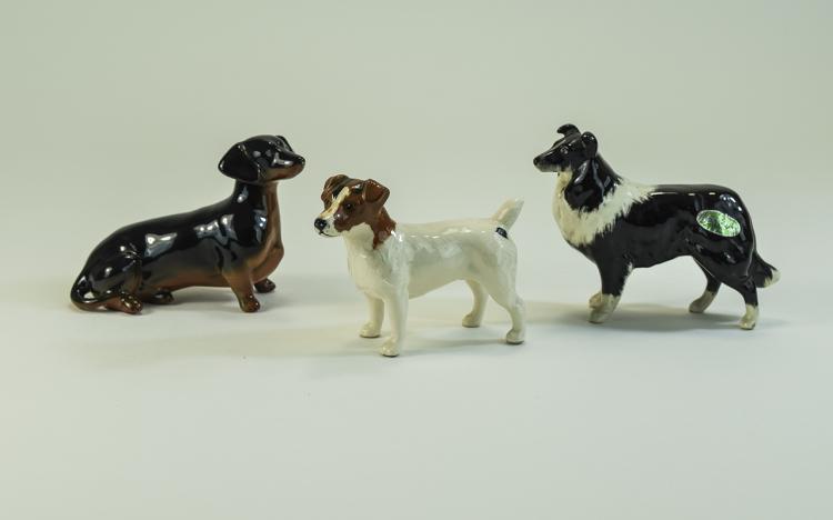 Beswick Assorted Dog Figures ( 3 ) Figures In Tota