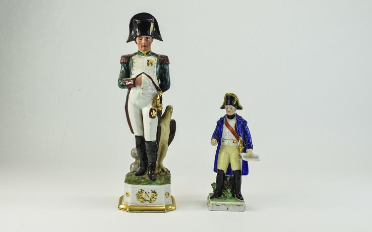 Two Various Capodimonte Style Figures of Napoleon,