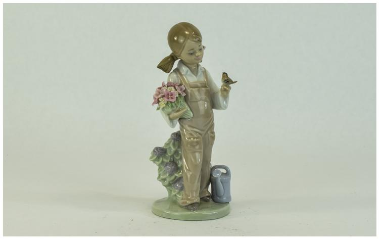 Lladro Figure ' Spring Girl ' Model Num 5217. Issu