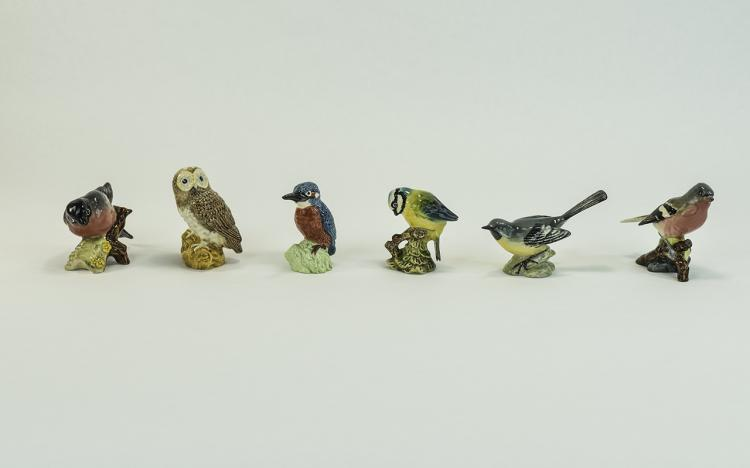 Beswick Bird Figures ( 6 ) In Total. 1/ Grey Wagta