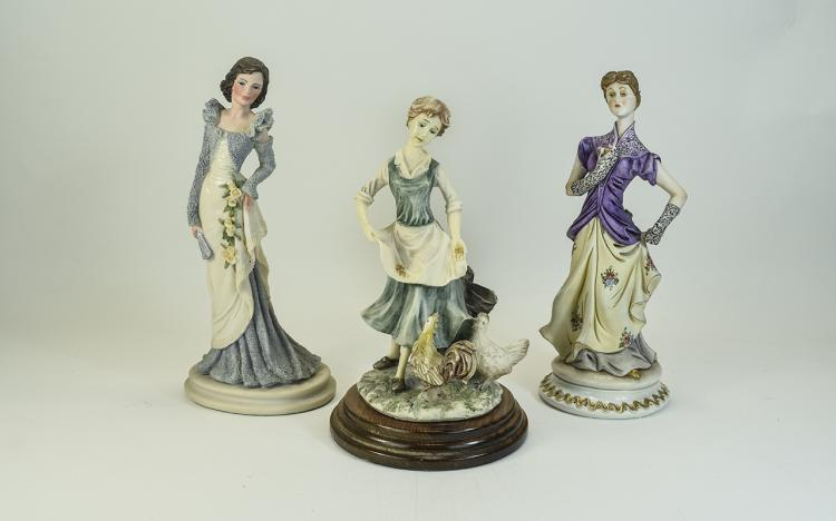 Capodimonte Nice Quality Signed Figures ( 2 ) In T