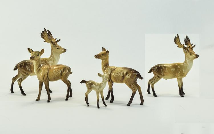 Beswick Animal Figures ( 5 ) In Total. 1/ Stag ( 2