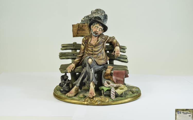 Capodimonte Germano Cortese Figure 'Non Disturbare