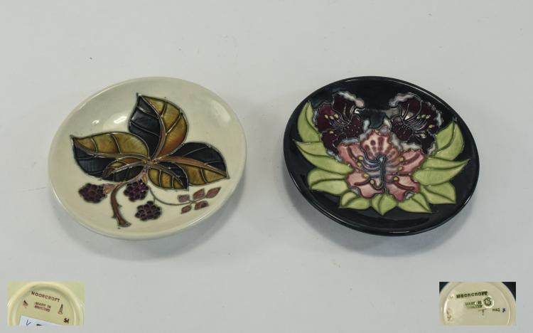 Moorcroft Modern Circular Shaped Pin Dishes ( 2 )