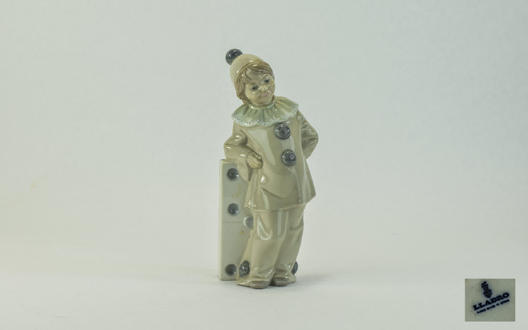 Lladro Figure ' Girl with Domino ' Model Num 1175.