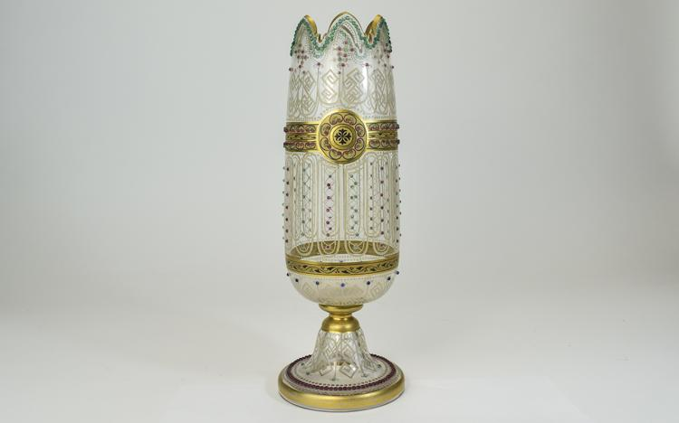 Venetian 19th Century - Enamelled and Clear Glass