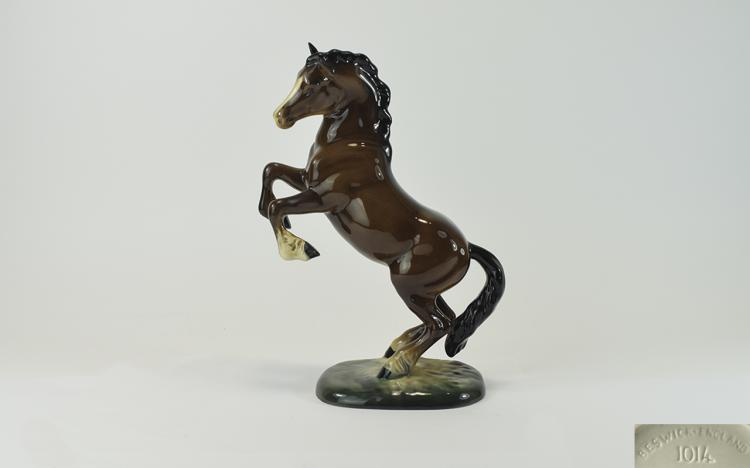Beswick Horse Figure ' Welsh Cob ' Rearing - 2nd V