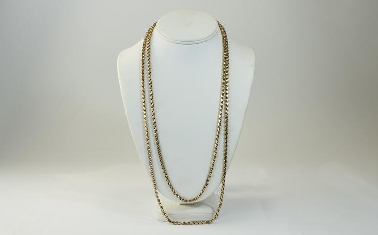 Victorian 9ct Gold Guard Chain, Marked 9ct. The Gu