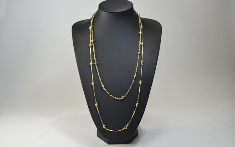 Ladies - Quality Pair of 9ct Gold Baubles Designed