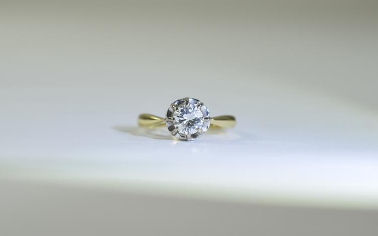 18 Carat Diamond Ring single stone round brilliant
