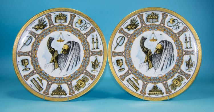 Geobel Pair Of Traditions Plates.