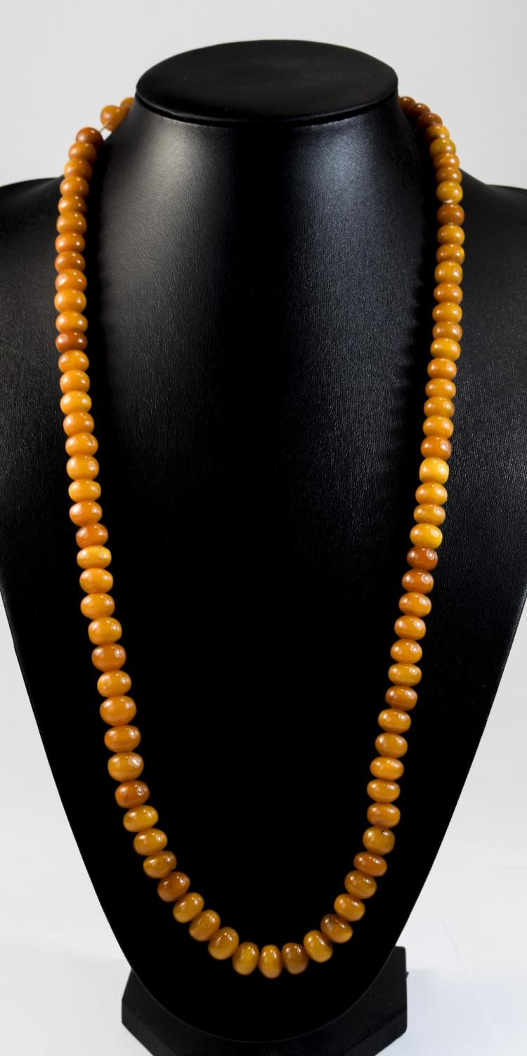 Butterscotch Amber String of Beads, 100 slightly g