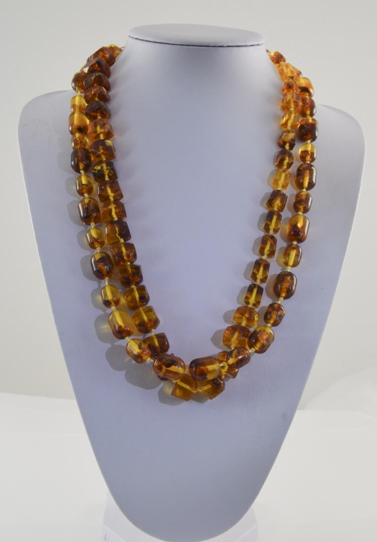 Two Various Baltic Amber Necklaces, both of the go