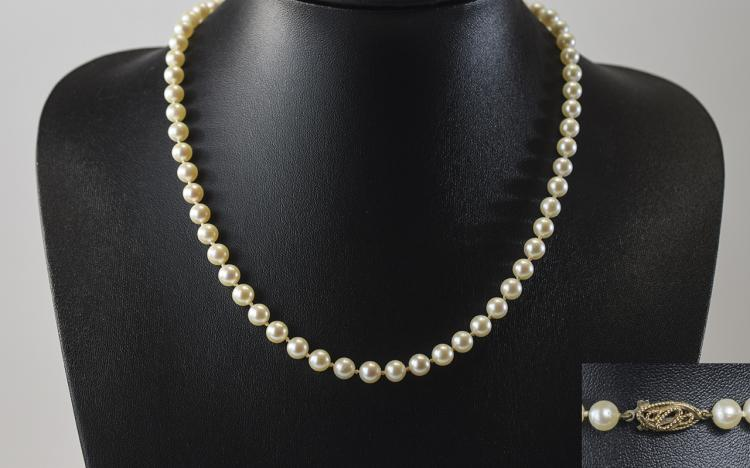 Vintage Top Quality Cultured Pearl Necklaces with