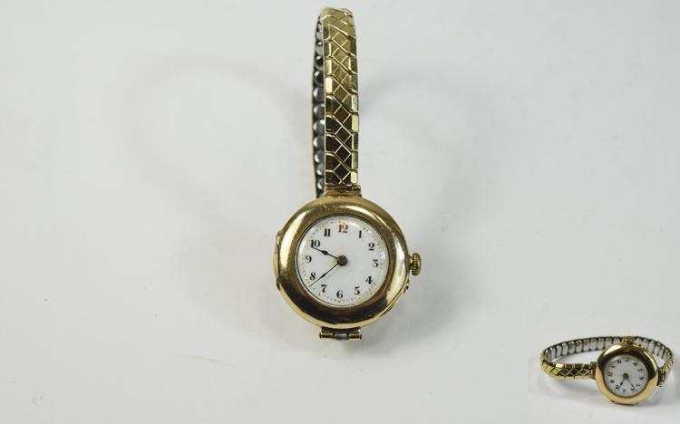 Art Deco - Ladies 9ct Gold Cased Wrist Watch with