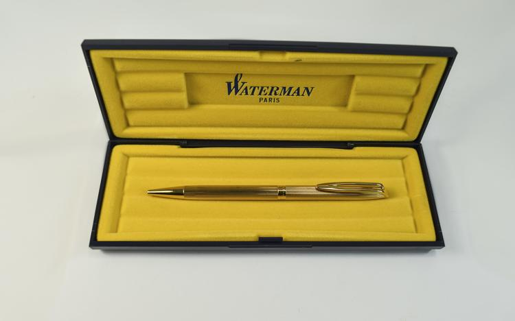 Waterman - Paris Gold Plated Ballpoint Pen with Bo