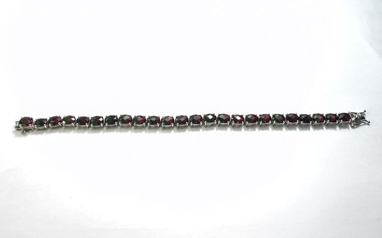 Bi-Colour Tourmaline Colour Quartz Tennis Bracelet