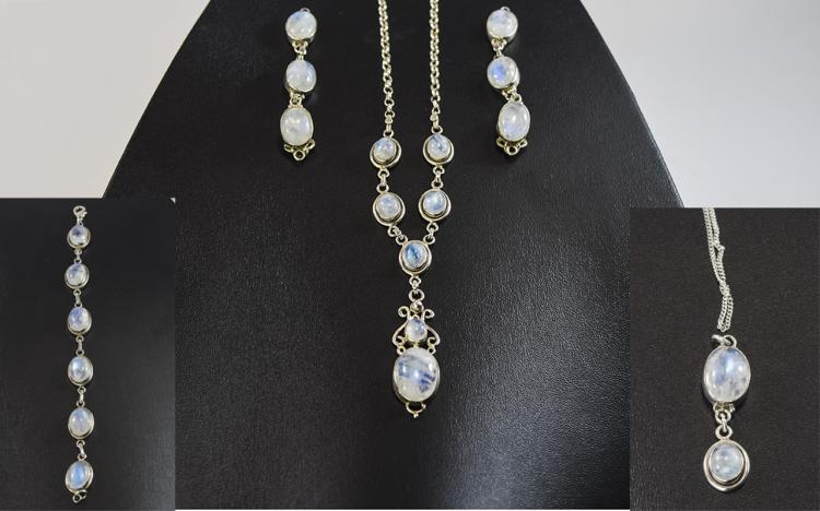 Rainbow Moonstone Collection comprising Y-shaped p