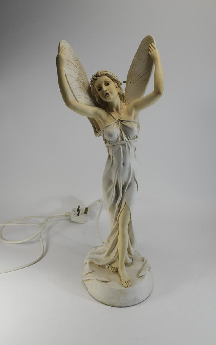Late 20th Century Hand Painted Figural Table Lamp