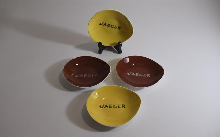 6 Assorted Pickle Dishes Domino Pattern Circa 1956