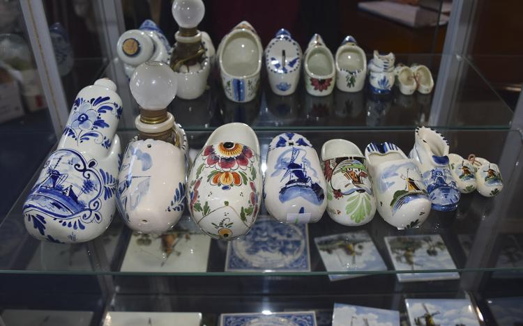 A Collection of Vintage Dutch Delft Items In The F