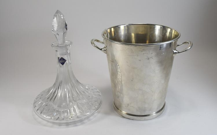 Edinburgh Crystal Cut Glass Decanter Together with