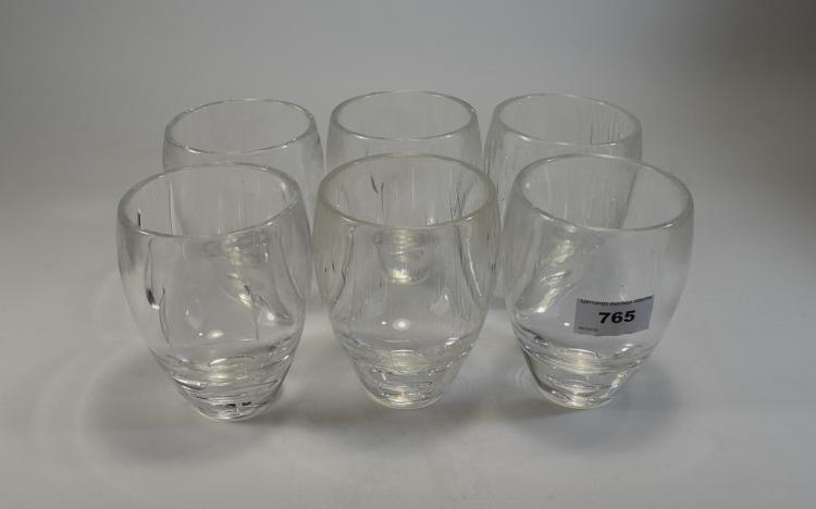 Set Of Six Heavy Acrylic Tumblers