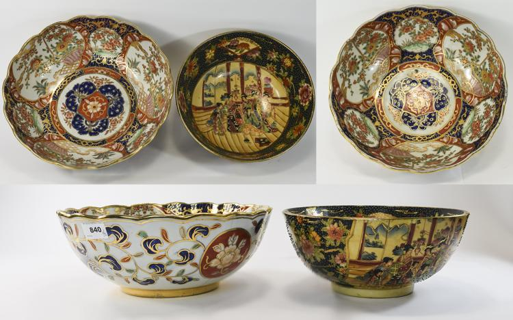 Collection Of Three 20thC Oriental Style Bowls, Tw