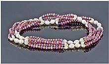 Cultured Freshwater Pearl, Multicolour, Opera
