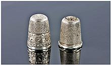 Two Silver Thimbles, One Fully Hallmarked