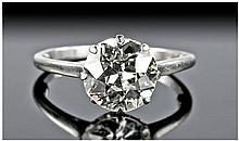 18 Carat White Gold Set, Fine Single Stone Diamond