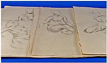 30 Original Drawings By Iris Hardcastle. All male