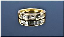 18ct Gold Half Eternity Diamond Ring, Channel Set