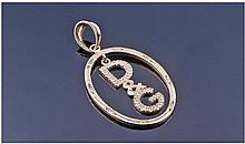 Dolce & Gabbana 9ct Gold and Diamond Set Pendant