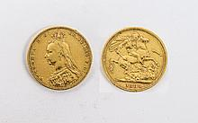 Queen Victoria Jubilee Head 22ct Gold Full Sovereign. Date 1889, Melbourne Mint - Please See Photo.