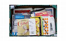 Box Containing A Collection Of Ephemera To Include Theatre Programmes Including Preston Guild Interest, Blackpool Fylde, Amateur Photographer, Illustrated London News Etc.