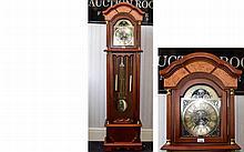 Modern Longcase Clock Battery Operated