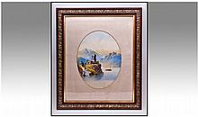 19th Century Unsigned Watercolour Of An Italian